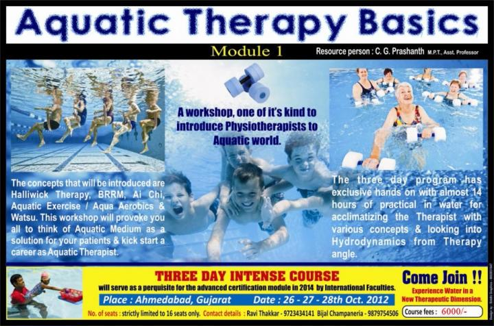 Aquatic Therapy Basics C G Prashanth 6 | Gajanan Bhalerao\'s SCHOOL ...